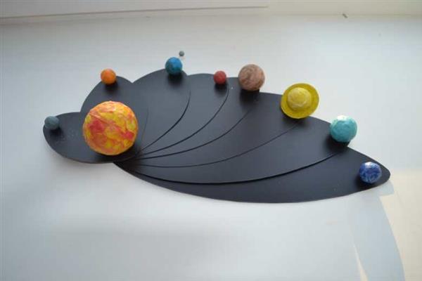 Sistema solar em papel