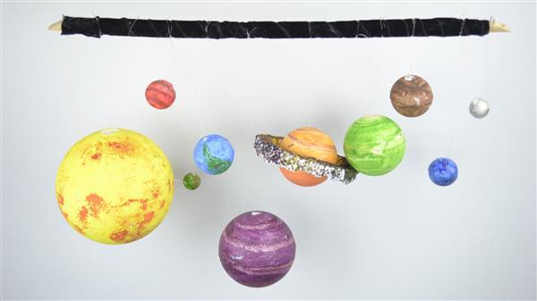 maquete supensa sistema solar