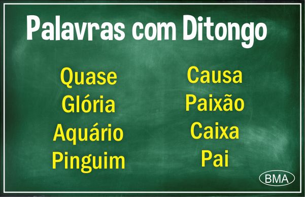 Palavras com Ditongo