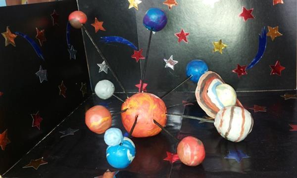 sistema solar de massinha