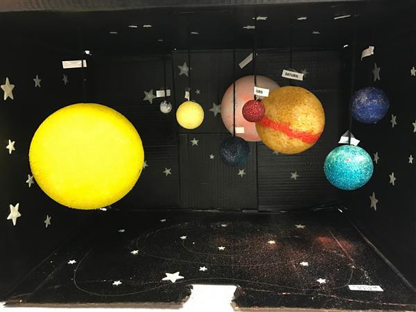 sistema solar na caixa