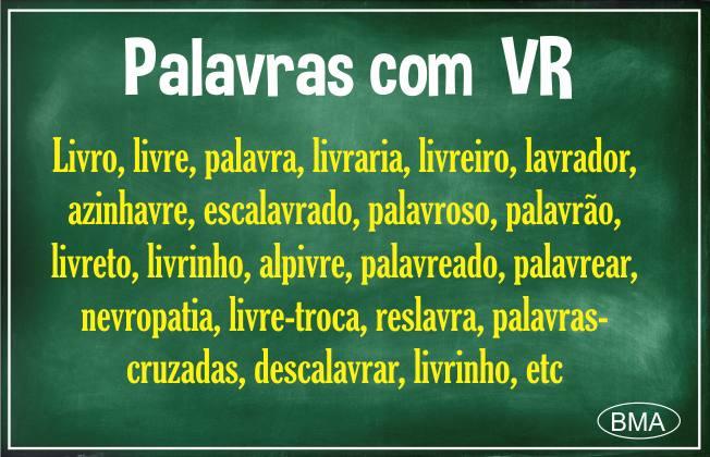 palavras com VR