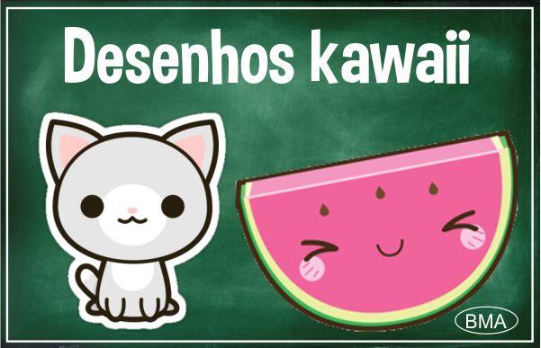Desenhos Kawaii Para Colorir E Desenhar Bma