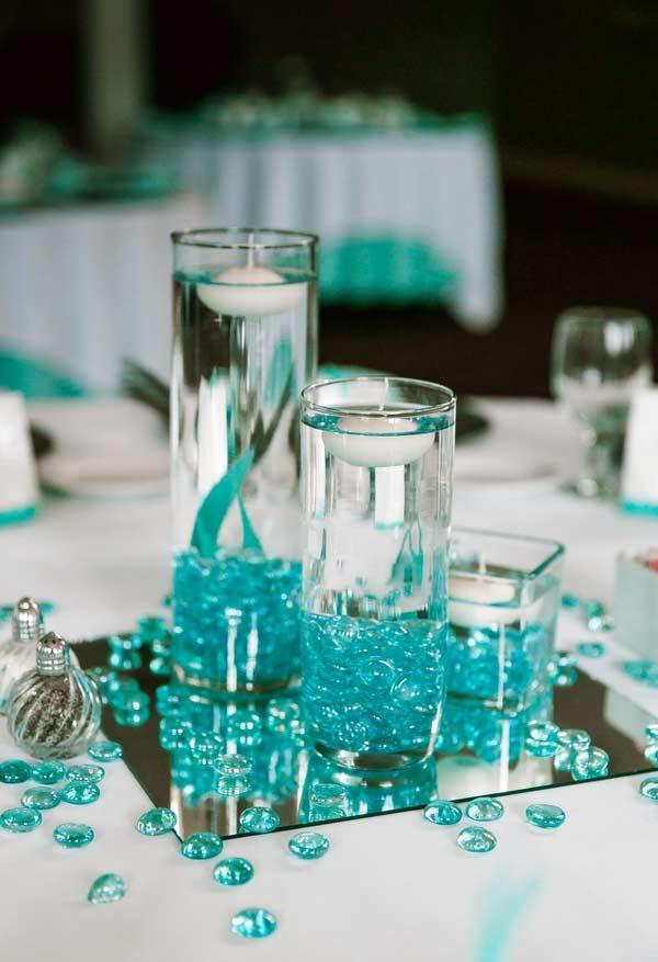 decoração com azul tiffany