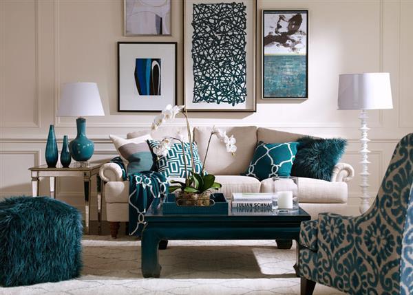 Decoração-azul-turquesa