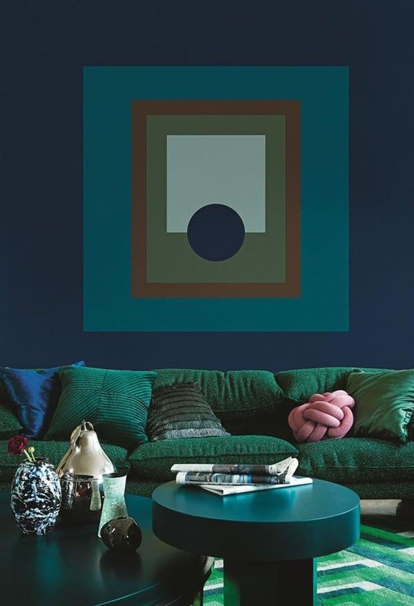 azul turquesa com verde