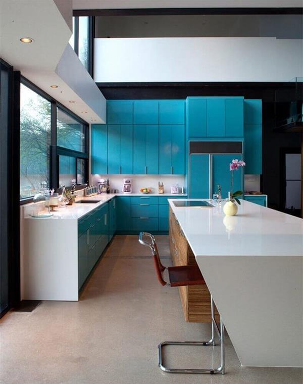 decoração-moderna-para-cozinha-planejada-azul