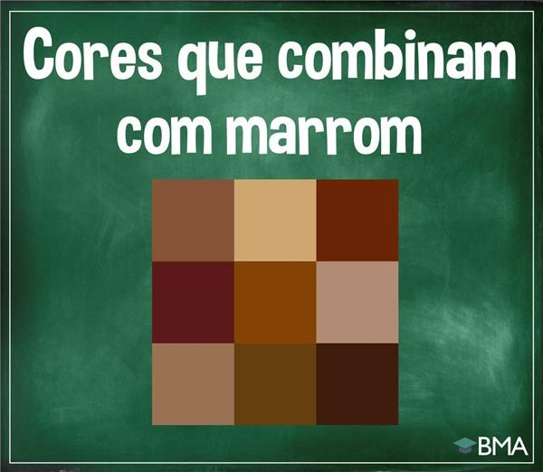 cores que combinam com marrom