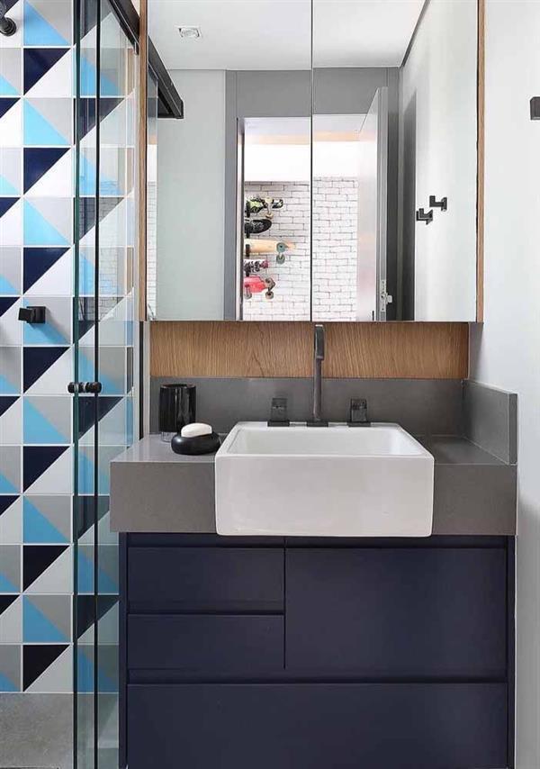 cinza e azul marinho decoracao