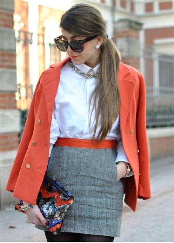 moda com cinza