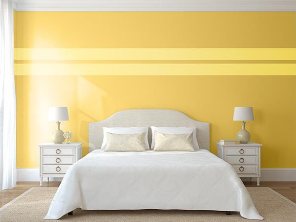 cor de quarto amarelo