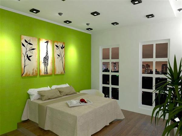 decoracao-quarto-de-casal-parede-verde